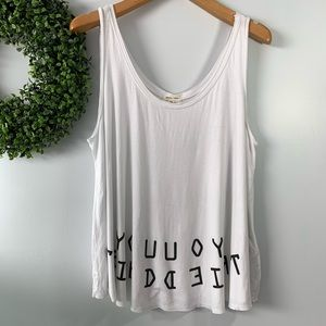 SILENCE + NOISE . 'You Tried' Tank Top . S